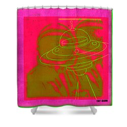Spaceacesee Shower Curtain by Tony Adamo