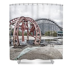 Shower Curtain featuring the photograph Spaced Out by Andy Crawford