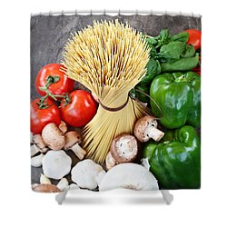 Spaghetti  Shower Curtain