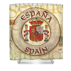 Spain Coat Of Arms Shower Curtain by Debbie DeWitt