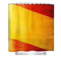Spain Flag Shower Curtain by Setsiri Silapasuwanchai