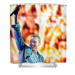 Coldplay4 Shower Curtain by Rafa Rivas