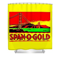 Span O Gold Golden Gate Bridge Shower Curtain by Peter Gumaer Ogden