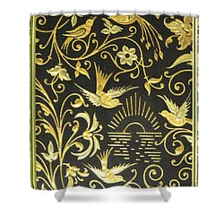 Shower Curtain featuring the photograph Spanish Artistic Birds by Linda Phelps