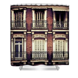 Spanish Balconies Shower Curtain