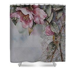 Spanish Camellias Shower Curtain