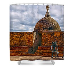 Shower Curtain featuring the photograph Spanish Colonial Architecture by Mitch Cat