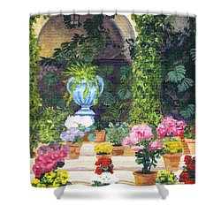 Spanish Courtyard Shower Curtain