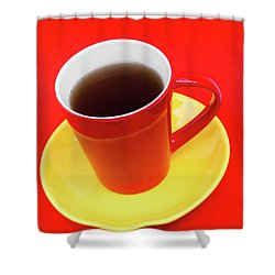 Spanish Cup Of Coffee Shower Curtain by Wim Lanclus