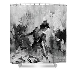 Shower Curtain featuring the painting Spanish Dance 7734j by Gull G