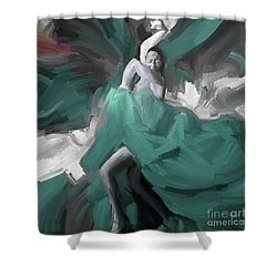 Shower Curtain featuring the painting Spanish Dance Art 56yt by Gull G