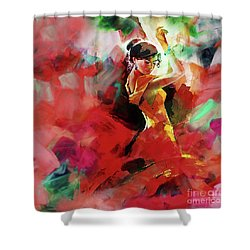 Shower Curtain featuring the painting Spanish Dance by Gull G
