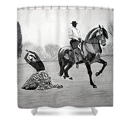 Spanish Dance Shower Curtain by Melita Safran