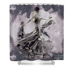 Shower Curtain featuring the painting Spanish Dance Painting 03 by Gull G