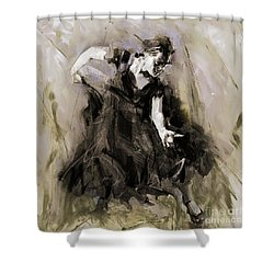 Shower Curtain featuring the painting Spanish Dancer 3400i by Gull G