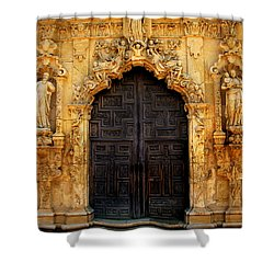 Spanish Doorway Shower Curtain by Perry Webster