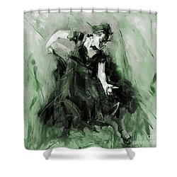 Shower Curtain featuring the painting Spanish Flamenco Dancer by Gull G