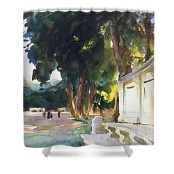 Shower Curtain featuring the painting Spanish Midday by Celestial Images