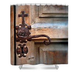 Spanish Mission Door Handle Shower Curtain