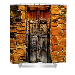 Spanish Mission Door Shower Curtain
