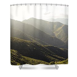 spanish mountain range, Malaga, Andalusia, Shower Curtain by Perry Van Munster