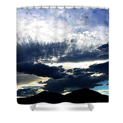 Shower Curtain featuring the photograph Spanish Peaks by Silke Brubaker