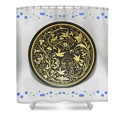 Shower Curtain featuring the photograph Spanish Plaque by Linda Phelps