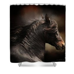 Spanish Stallion Shower Curtain by Kathy Russell