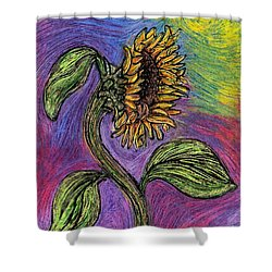 Spanish Sunflower Shower Curtain