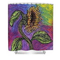 Spanish Sunflower Shower Curtain