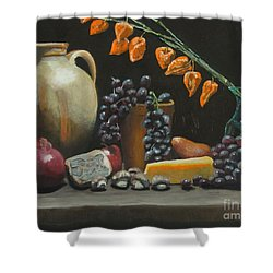 Spanish Urn And Japanese Lantern Shower Curtain