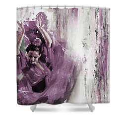 Shower Curtain featuring the painting Spanish Woman Dance  by Gull G