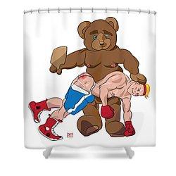 Spanking Bear Shower Curtain
