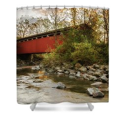 Shower Curtain featuring the photograph Spanning Across The Stream by Dale Kincaid