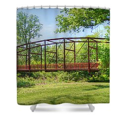 Spanning Time Shower Curtain