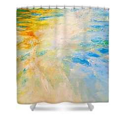 Sparkle And Flow Shower Curtain by Dina Dargo