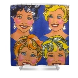 Sparkle Shower Curtain by Marilyn Jacobson