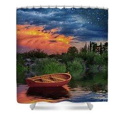 Sparkle Pond Shower Curtain