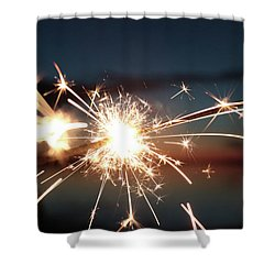 Shower Curtain featuring the photograph Sparklers After Sunset by Kelly Hazel