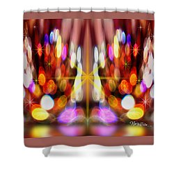 Sparkles #8885_2 Shower Curtain by Barbara Tristan