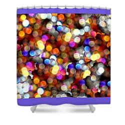 Sparkles #8885_4 Shower Curtain by Barbara Tristan