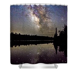 Sparklies On The Lake Shower Curtain
