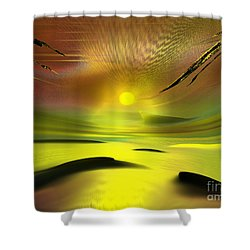 Sparkling In The Sand Shower Curtain