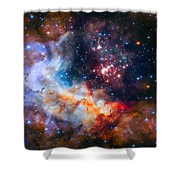 Sparkling Star Cluster Westerlund 2 Shower Curtain