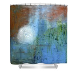 Shower Curtain featuring the painting Sparkling Sun-rays by Michal Mitak Mahgerefteh