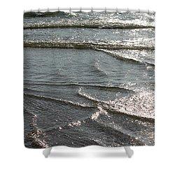 Sparkling Sunshine On Gentle Surf Shower Curtain by Carol Groenen