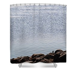 Sparkling Water Shower Curtain