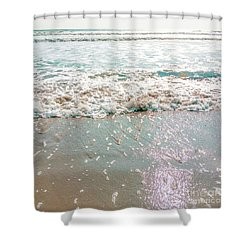 Shower Curtain featuring the photograph Sparkly Surf by Cindy Garber Iverson