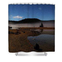 Shower Curtain featuring the photograph Sparks Lake At Dawn by Cat Connor