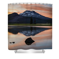 Sparks Lake At Sunset Shower Curtain